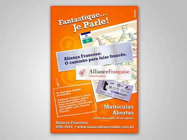Aliança Francesa - Anúncio