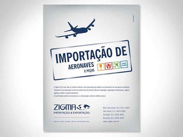 Zigma - Anúncio Aeronaves