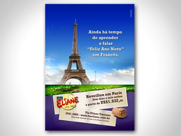 Anúncio Reveillon Tia Eliane