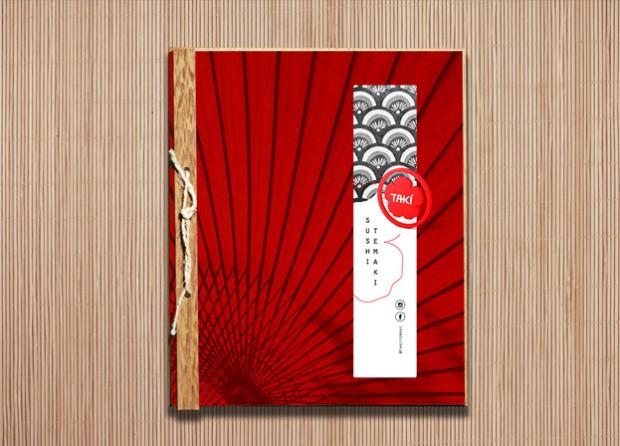 Cardápio para Restaurante Japonês Taki Sushi e Temaki