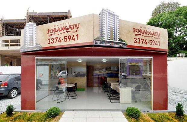 Stand de Vendas mercado imobiliário Residencial Porangatu