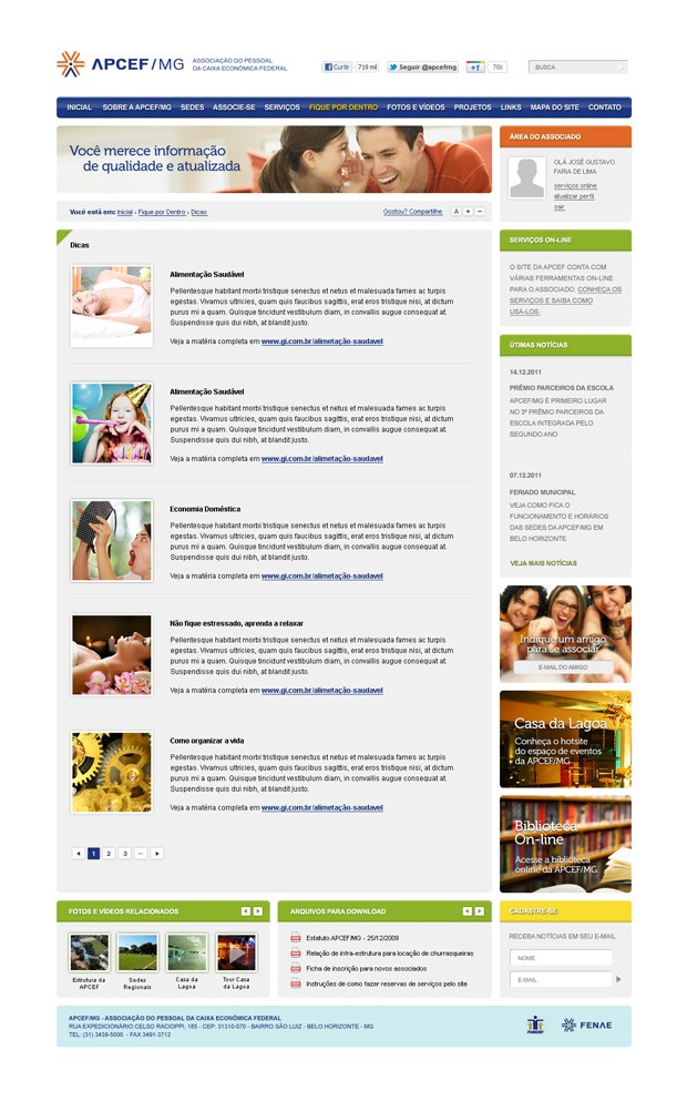 Criação do Site APCEF