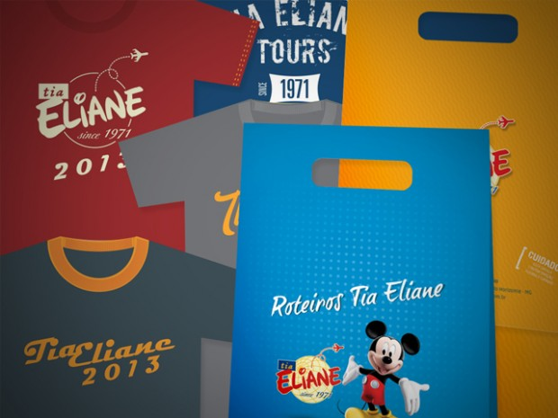Criação de Material para Eventos para a Tia Eliane Turismo