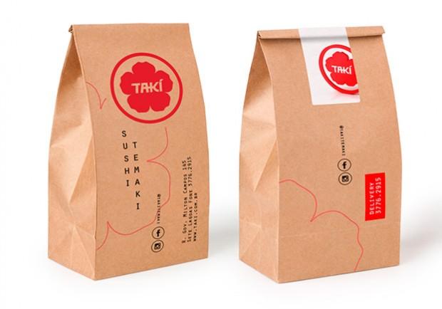 Criação de Bag Saco para Delivery Restaurante Japonês