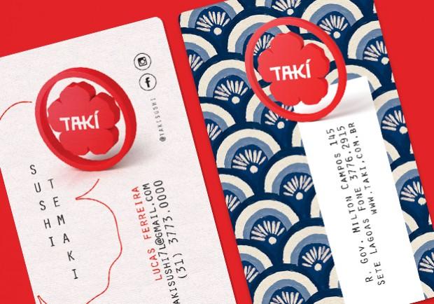 Cartões de Visita para Restaurante Japonês
