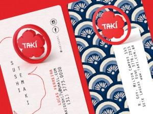 Marca, Cardápio e Visual para restaurante japonês Takí