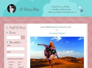 Criação e desenvolvimento do Blog Lê Diniz