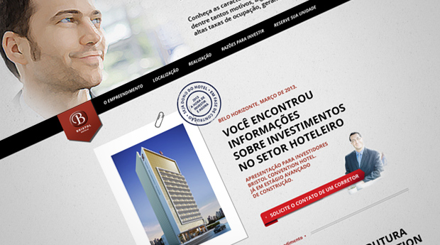 Movida cria HotSite Bristol Convention Hotel